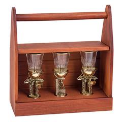 Набор из 3-х стопок Строительные в деревянном ящике для инструментов