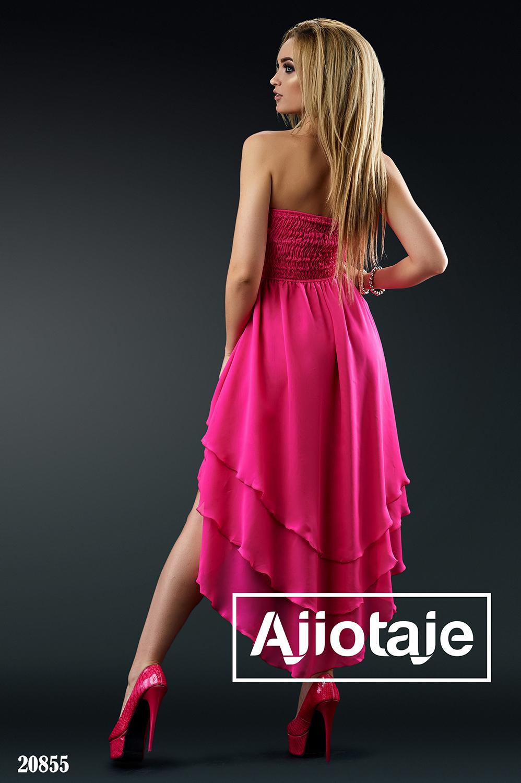 Платье малинового цвета с стразами