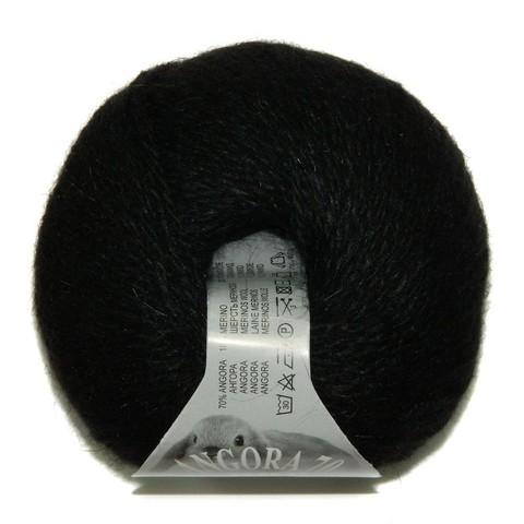 Пряжа BBB Filati Angora 70 200 черный
