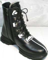 Ботинки женские зимние с мехом Ripka 3481 Black-White.