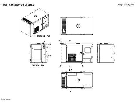Кожух шумозащитный в сборе с глушителем/сильфонами для P22-6 CAL/CANOPY ASSY АРТ: 10000-59510