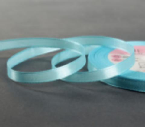 Лента атласная,цвет голубой, 6мм*23±1м