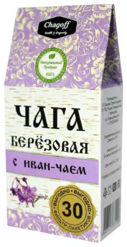 ЧАГА березовая с иван-чаем, 30 фильтр-пак.*2г. (ИП Грицаев)