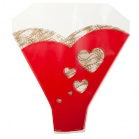 Рюмка Сердца, 52x44x12см (в уп. 50шт.), красный