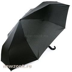 Большой мужской зонт автомат 3 сложения Lamberti чёрный