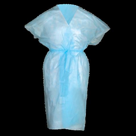 Халат кимоно SMS(люкс) без рукавов голубой 10 шт./уп.