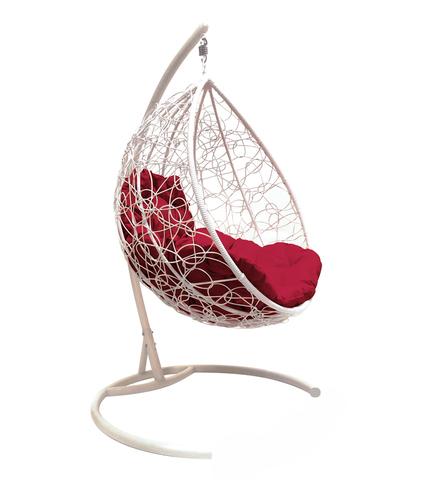 Кресло подвесное Lagos  white/burgundy