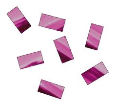Конфетти металлизированное 10*20 мм розовый, 250 гр, 1 уп.