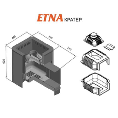 Банная печь ETNA Кратер 18 (Панорама)