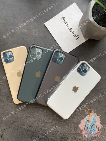 Чехол iPhone Glass Silicone Case Logo matte