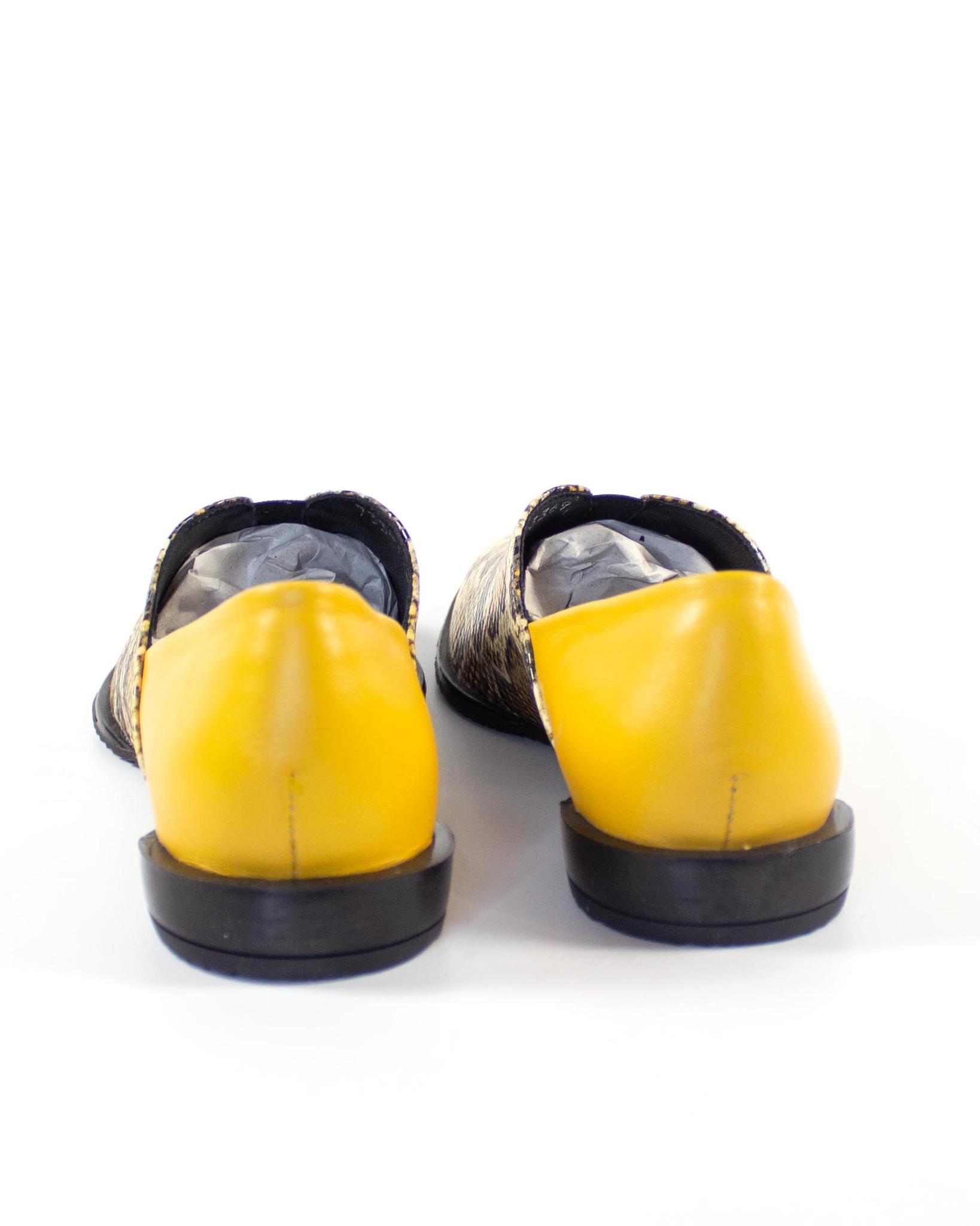желтые лоферы SM