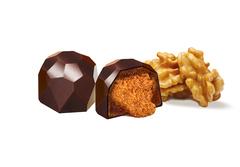 Шоколадные конфеты из кэроба с Грецким орехом (дроблёным), 60 г
