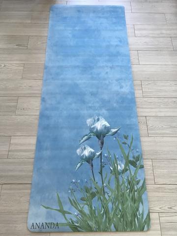 Коврик для йоги Ananda flowers 183*68*0,3 см из микрофибры и каучука