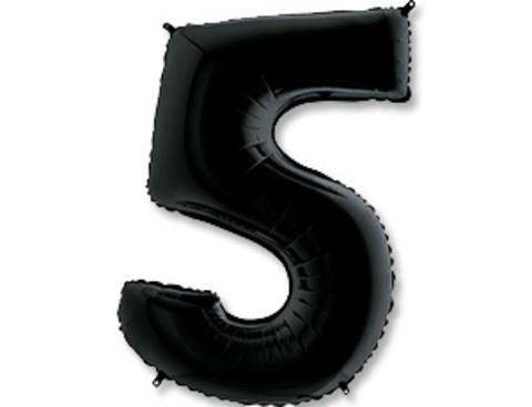 Цифра, 5, Черный (Black), 40''/102 см, 1 шт.