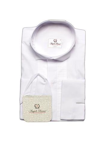 Сорочка Angelo Roma под бабочку белая на высокий рост