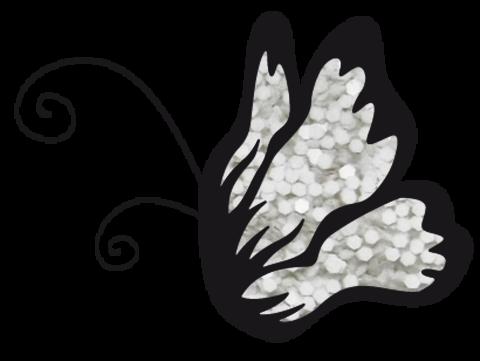 Эль Коразон Глиттеры 27 белый глиттер крупный 1мм