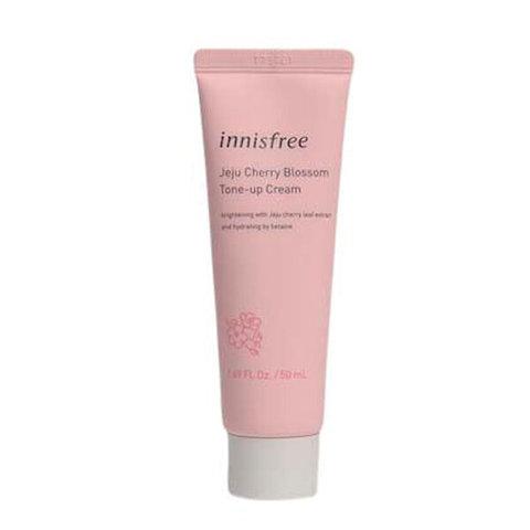 INNISFREE Jeju Cherry Blossom Tone-up Cream Увлажняющий крем для лица с экстрактом вишни Инисфри 50 мл