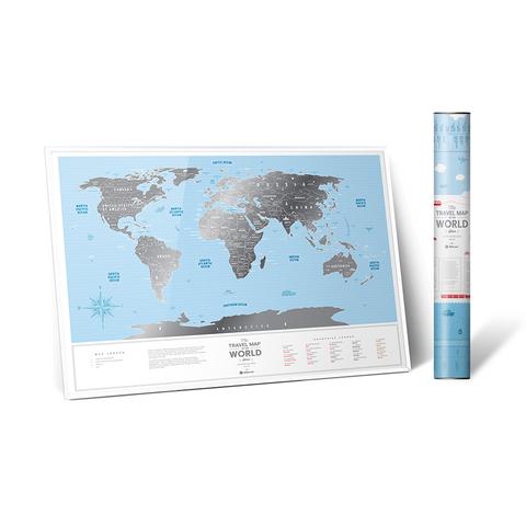 Скретч Карта Travel Map Silver World 1DEA.ME