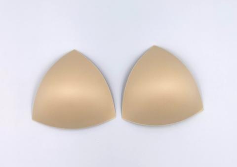 Чашки треугольные, пуш-ап (для купальников), 60C, 65B, 70A, бежевый