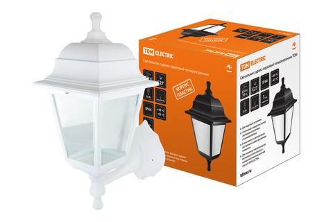Светильник садово-парковый НБУ 04-60-001 четырехгранник, настенный, пластик, белый TDM