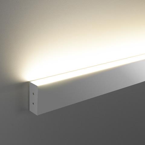 Линейный светодиодный накладной односторонний светильник 53см 10Вт 4200К матовое серебро 101-100-30-53
