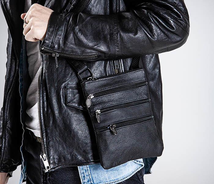 BAG541-1 Мужская сумка планшет из натуральной кожи