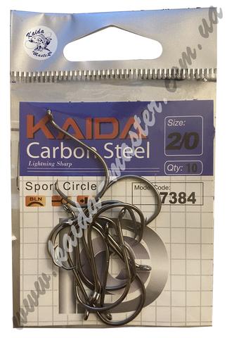 Крючки Kaida №1/0 карбоновые, 10 шт в наборе