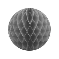Бумажный Шар-соты 30 см Серый