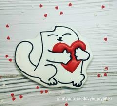 Кот с сердцем №1
