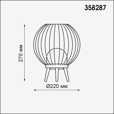 Светильник ландшафтный настольный 358287 серии CARRELLO