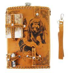 Фляга «Медведь и собаки», набор, 6 предметов, 1,9 л, фото 6