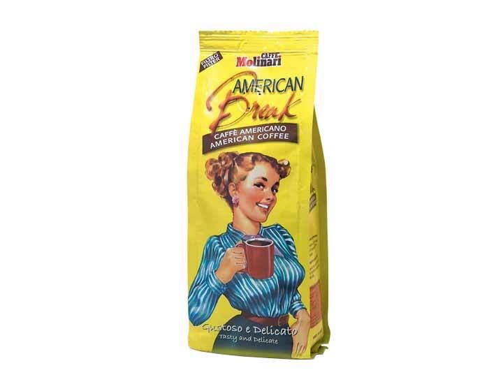 Кофе молотый Molinari AMERICAN BREAK CAFFE AMERICANO, 250 г