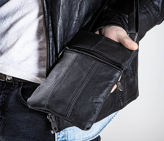 BAG541-1 Мужская сумка планшет из натуральной кожи фото 02