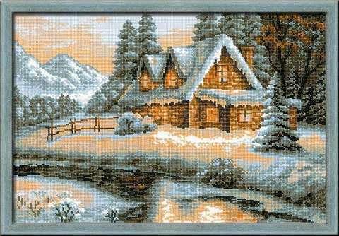 Набор для вышивания крестом «Зимний пейзаж» (1080)