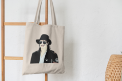 Сумка-шоппер с принтом Майкл Джексон (Michael Jackson) бежевая 006