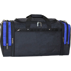 Спортивная сумка Bagland Мюнхен 59 л. Черный/электрик (0032570)