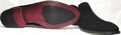 Черные замшевые лоферы мужские Ikoc 3410-7 Black Suede.