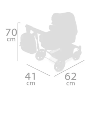 DeCuevas Коляска трансформер для куклы 3 в 1, серия Фантазия океана, 70 см. (80541)