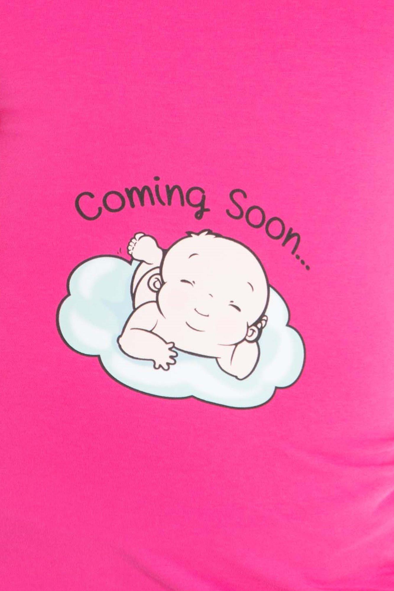 Лонгслив для беременных 07910 розовый