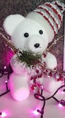 Новогодняя игрушка: медвежонок 25см