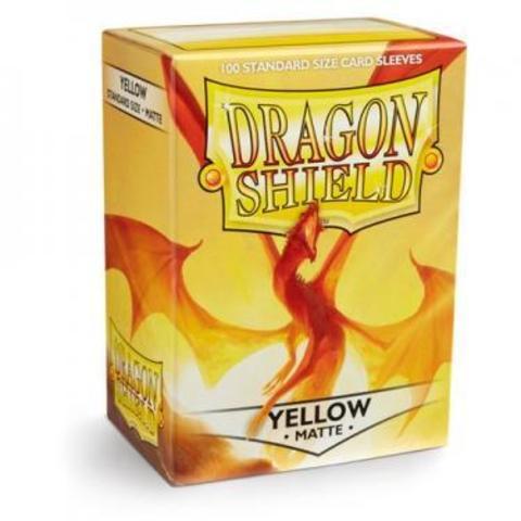Протекторы Dragon Shield матовые желтые (100 шт.)