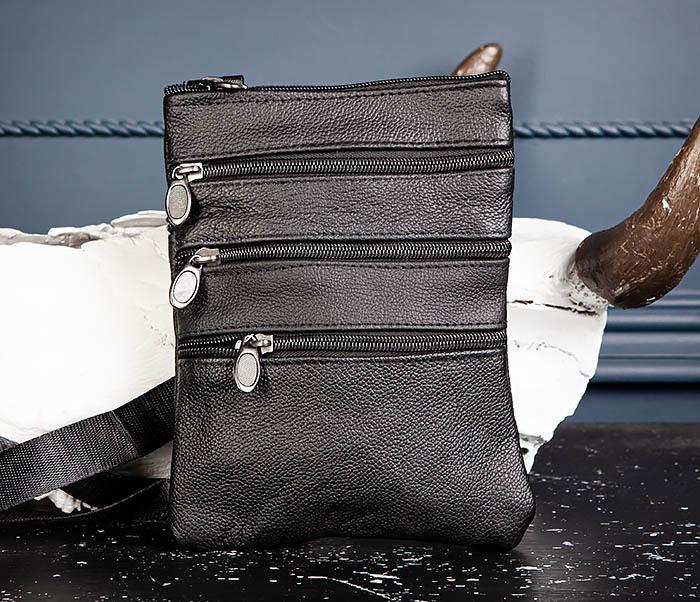 BAG541-1 Мужская сумка планшет из натуральной кожи фото 03