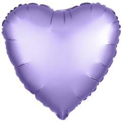 Шар сердце сатин лаванда