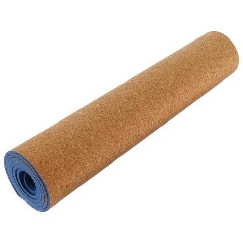 Коврик для йоги Пробка Blue 183*61*0,6 см