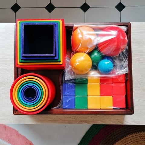 Большая Сортировка предметов по цвету, размеру, форме с подносом