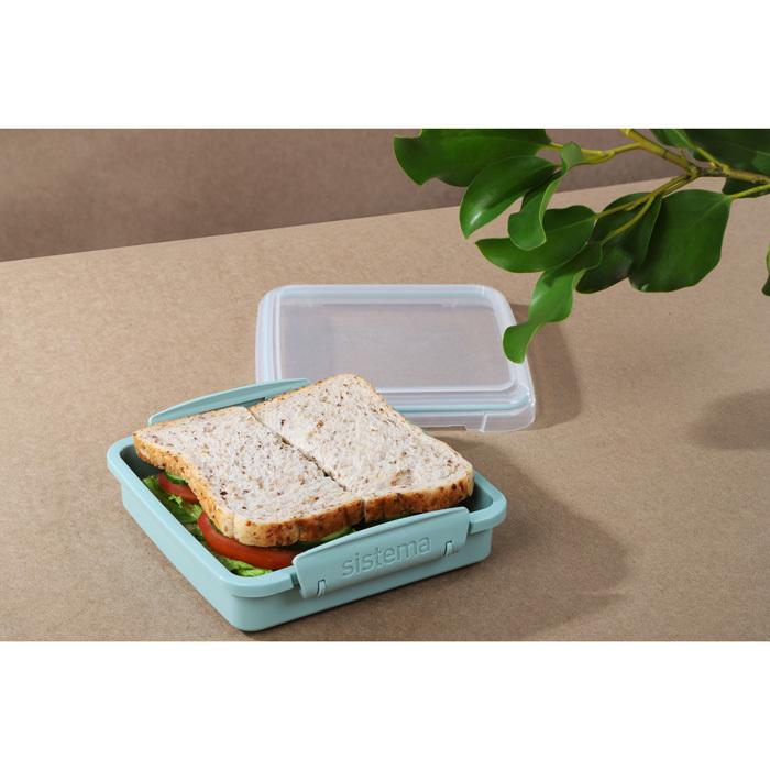 """Контейнер для сэндвичей Sistema """"Renew"""" 450мл, цвет Светло-зеленый"""