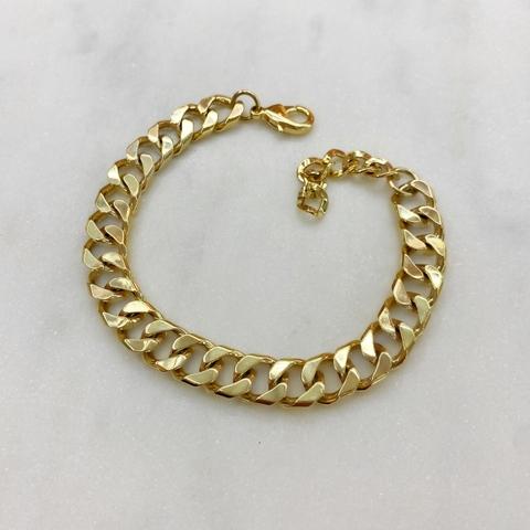 Браслет-цепь якорного плетения (золотистый)