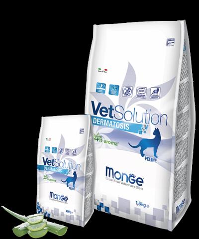 MONGE VETSOLUTION DERMATOSIS для кошек 1,5кг