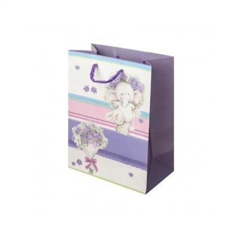 Пакет подарочный Слоненок, 18хН23см (в уп. 12 шт.), цв в асс.