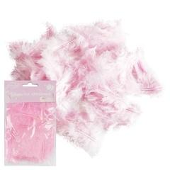 Перья розовые 30 шт.